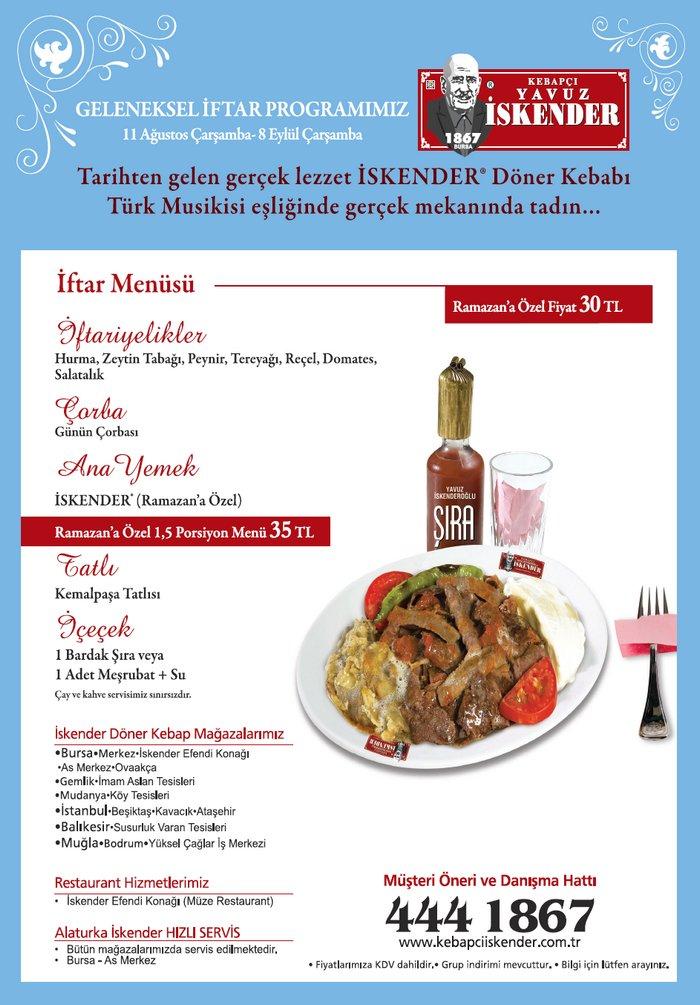 Kebapçı Yavuz Iskender Geleneksel Iftar Programımız Bursa