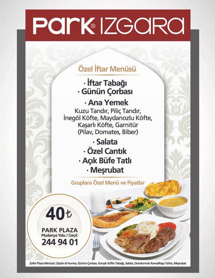 Park Izgara Herkesin Beklediği 2012 Iftar Menüsü Bursa Restaurants